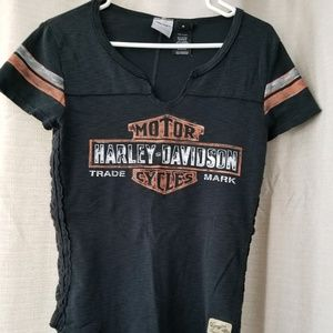 Ladies Lace Up Sides Thick Harley-Davidson Top